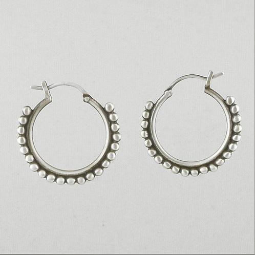 Medium Granulated Hoop Earrings by Jane Diaz