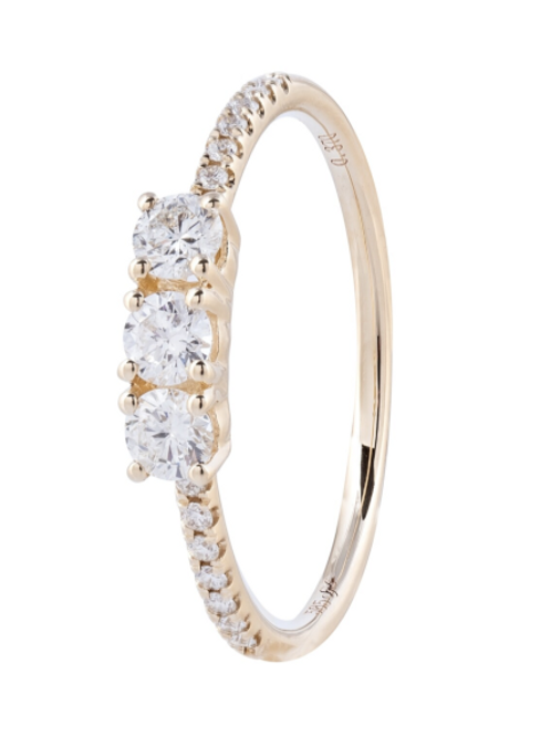 14kt Yellow Gold Diamond Ring By Sophia By Design