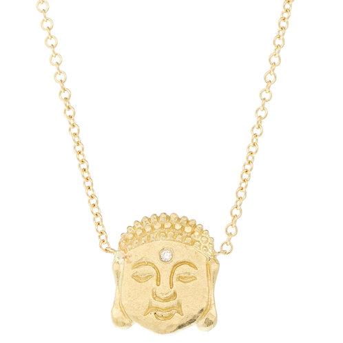 Diamond Third Eye Buddha Necklace by Victoria Cunningham
