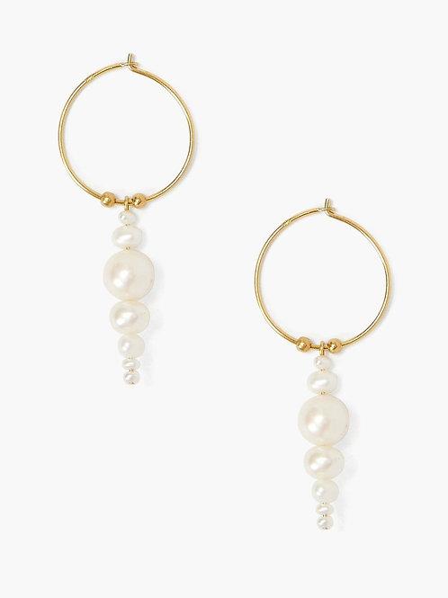 White Pearl Jubilee Earrings by Chan Luu