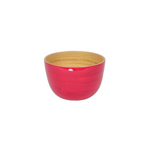 Small Tall Bamboo Bowl in Fuchsia