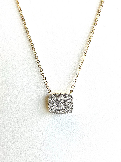 14k Yellow Gold Pave' Necklace by Sophia by Design