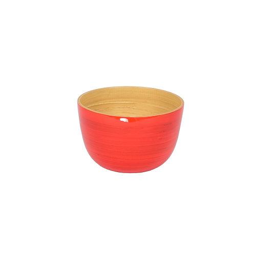 Small Tall Bamboo Bowl in Orange