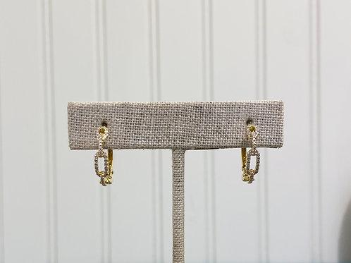 14k Diamond Chain Link Hoop By Sophia By Design