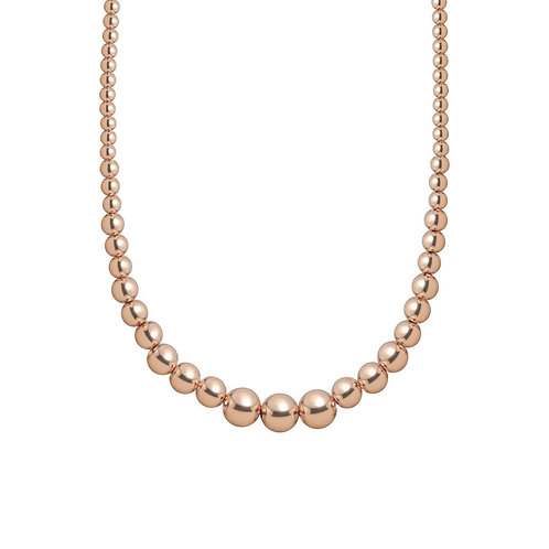 Rose Gold Baller Graduated Necklace by Jaime Nicole