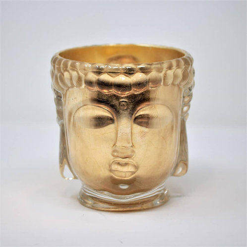 24K Gold Ceramic Buddha Candle