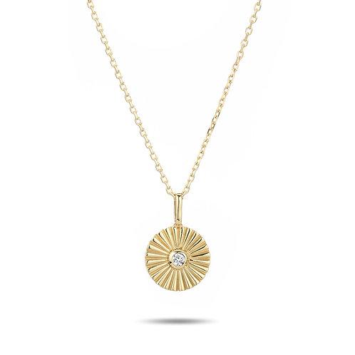Small Diamond Rays Necklace by Adina Reyter