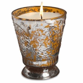 Tangerine Mercury Grapefruit Pine Fleur de Lys Candle