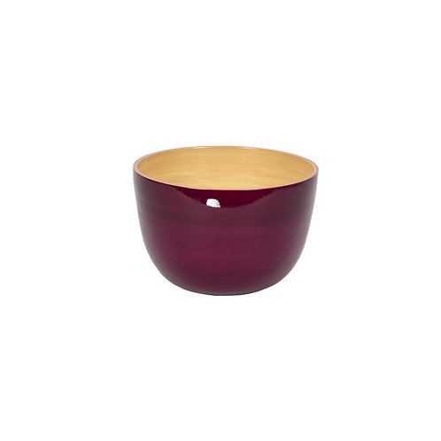 Small Tall Bamboo Bowl in Blackberry