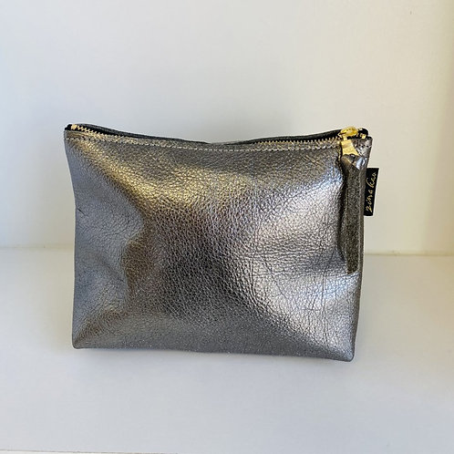 Silver Leather Pouch