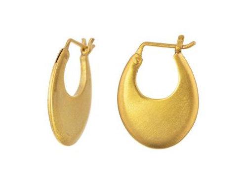 Small Oval Hoop Earrings by Jane Diaz
