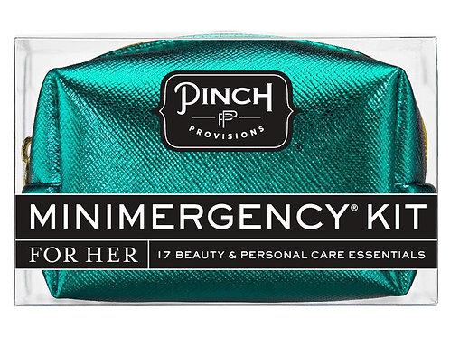 Turquoise Metallic Mini Emergency Kit