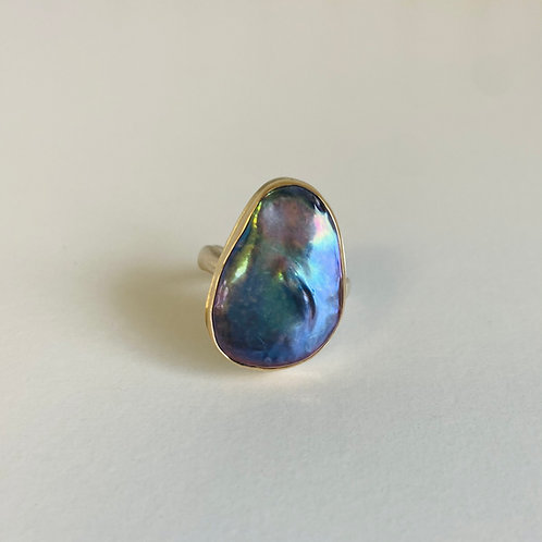 Peacock Pearl Ring by Jamie Joseph