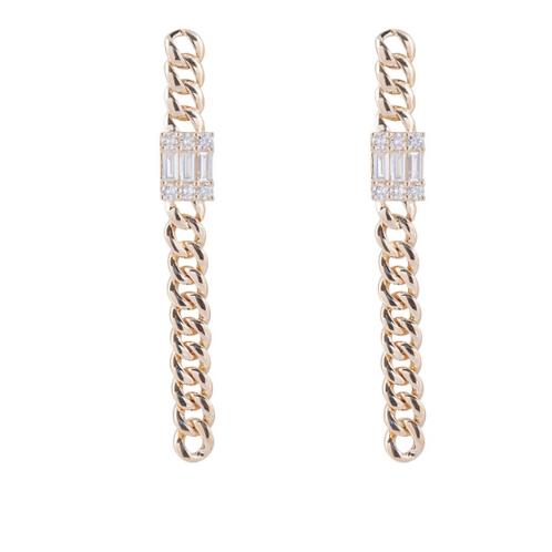 Diamond Chain Link Earrings By Sophia By Design