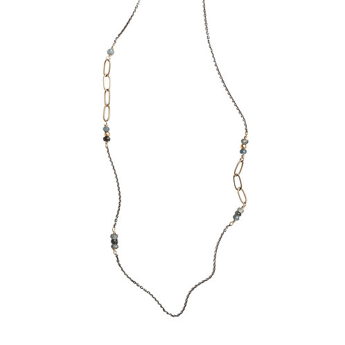 Pacific Coast Gemstone Mix Layer Necklace by Original Hardware