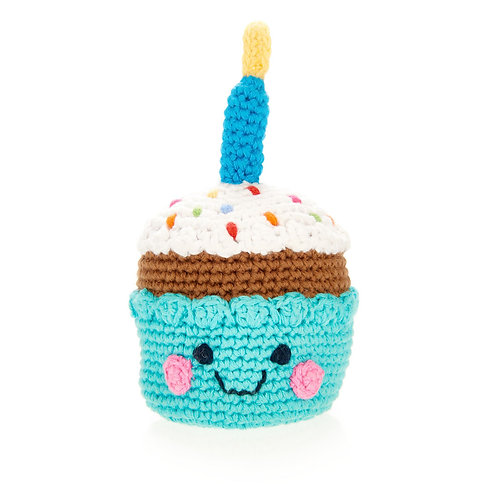 Crocheted Cupcake Rattle