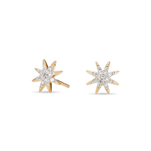 Solid Pave Starburst Post Earrings by Adina Reyter