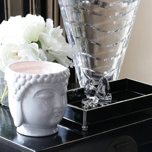 White Buddha Candle