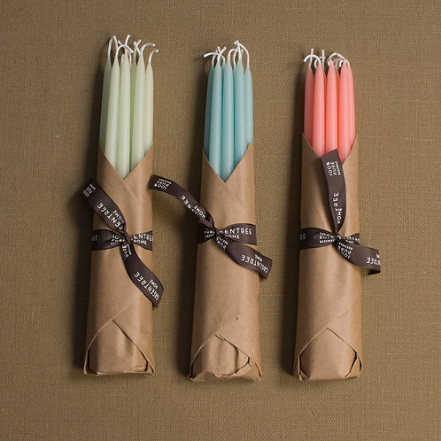 Greentree Candles in Celadon - Set of 10