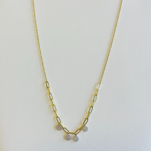 Diamond Disc Necklace By Miera T