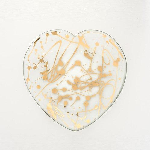 Jaxson Heart Plate by Annieglass