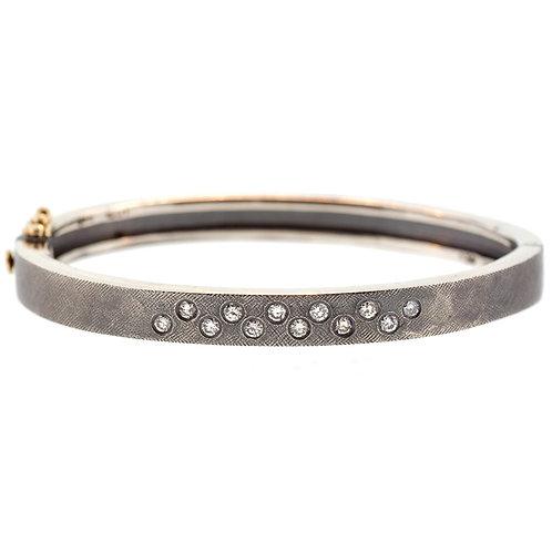 Diamond Cluster Bracelet in Silver