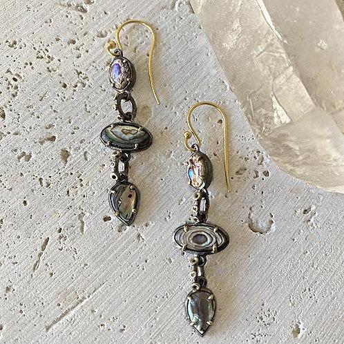 Abalone Drop Earrings by Robindira Unsworth