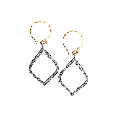 Arabesque Pave Set Diamond Drop Earrings, Large by Original Hardware