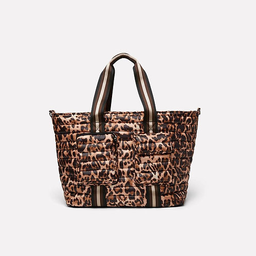 Wingman Bag with Elevated Pockets in Cheetah