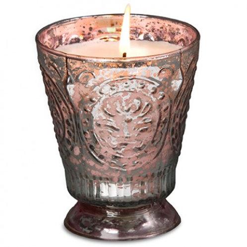 Pink Mercury Sugared Lemon Fleur de Lys Candle