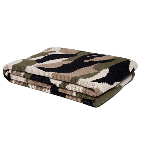 Eco Camouflage Throw by In2green