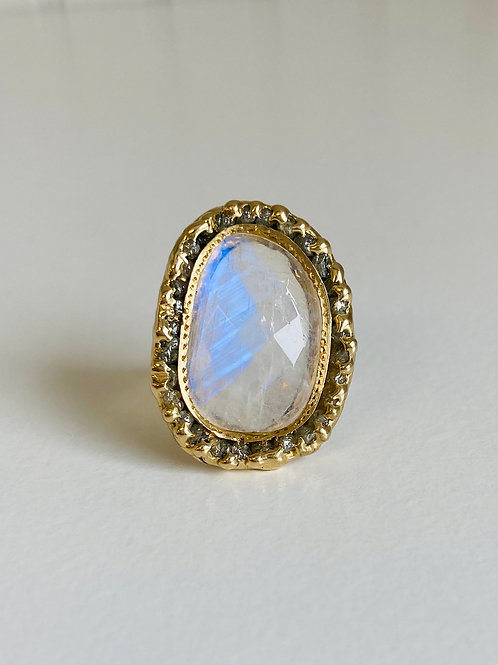 Rainbow Moonstone Ring by Emilie Shapiro