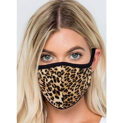 Leopard Fabric Face Mask