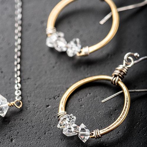 Herkimer Diamond Earrings by Original Hardware