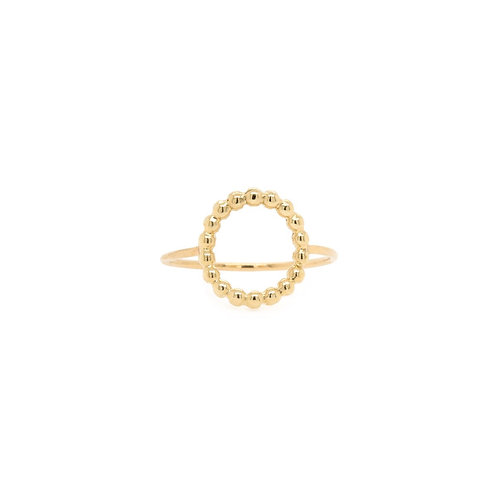 14k Beaded Small Ring by Zoe Chicco