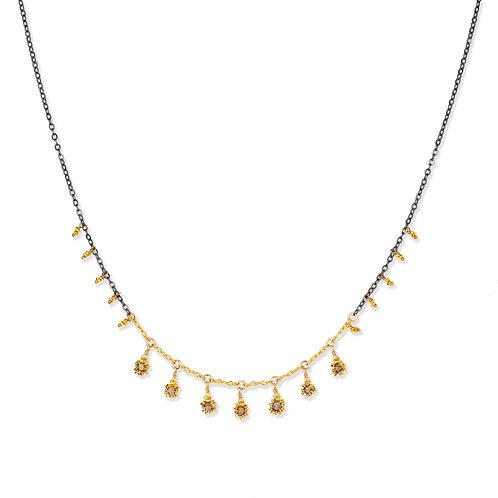 Nikita Grey Diamond Drop Necklace by Kate Winternitz
