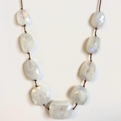 Moonstone Tassel Necklace by Lena Skadegard