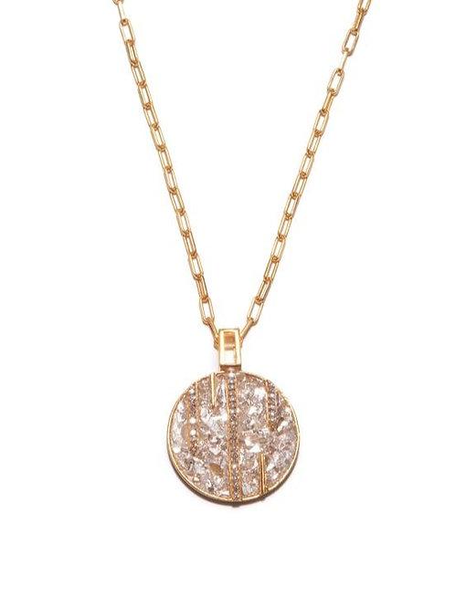 18k Gold Vermeil &  Diamond Riffa Necklace