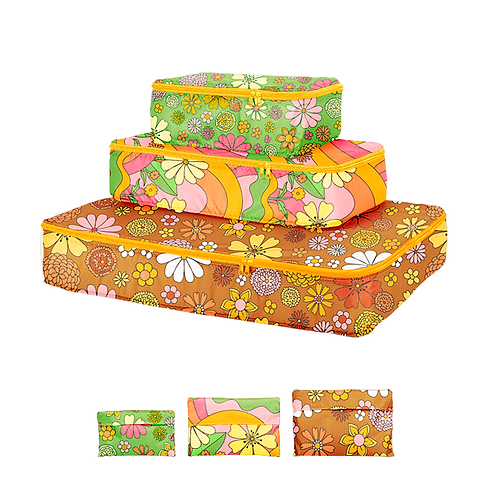Flower Power Set of Packing Cubes