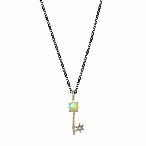Amulet Opal Key Necklace by Acanthus