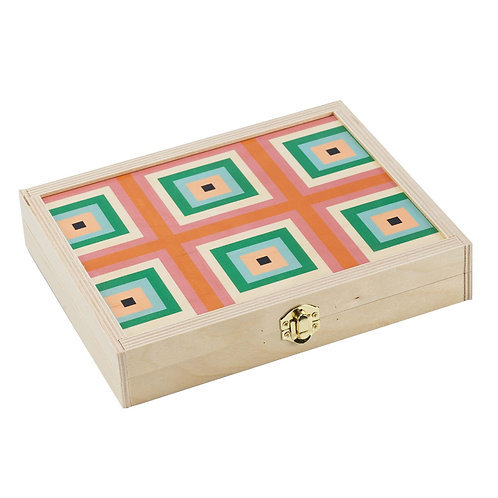 Squaresville Rust Travel Backgammon