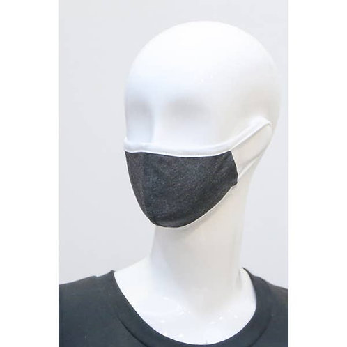 Kids Charcoal Solid Fabric Face Mask