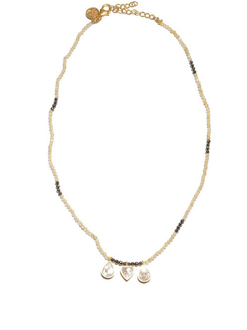 18k Gold Vermeil & Diamond Wythe Necklace by Shana Gulati