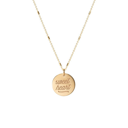 14k Amore Bar Chain Necklace by Zoe Chicco
