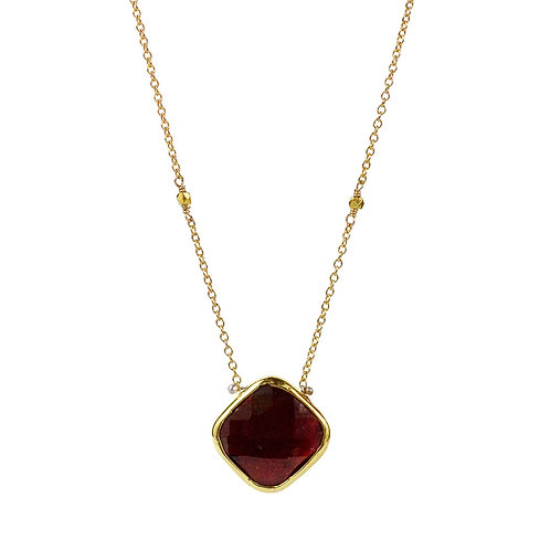 Lucia Necklace with Garnet by Lulu Designs
