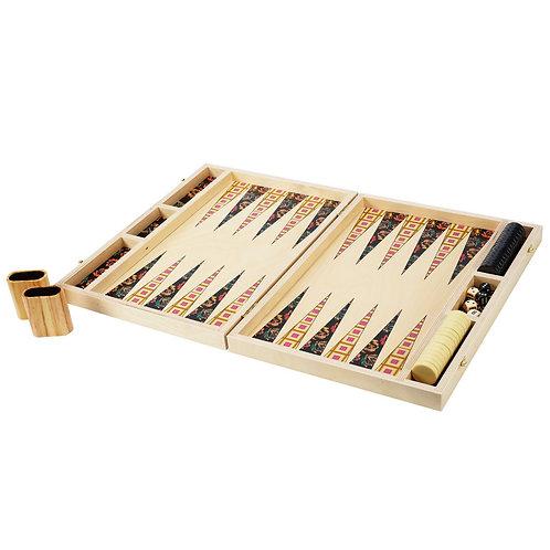 Squaresville Yellow Tabletop Backgammon