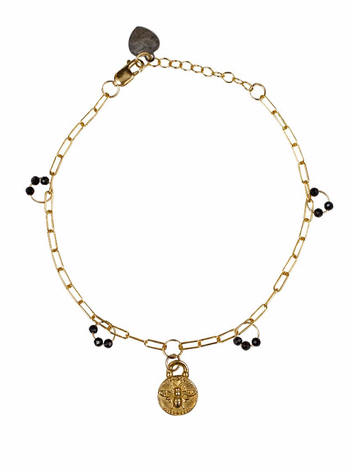 Ila Bracelet with Blue Sapphire & Amata by Lulu Designs