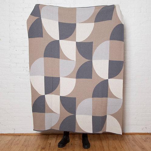 Eco Semi Circles Throw Blanket in Neutral