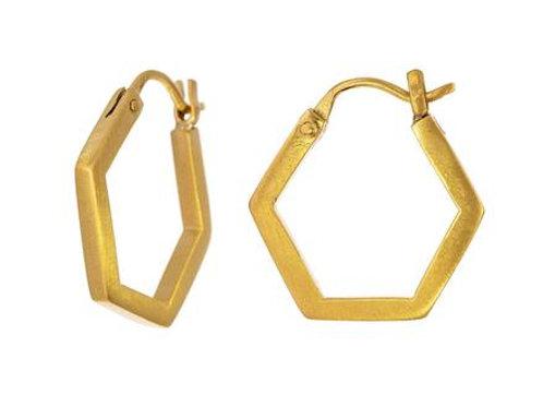 Hexagonal Hoop Earring by Jane Diaz