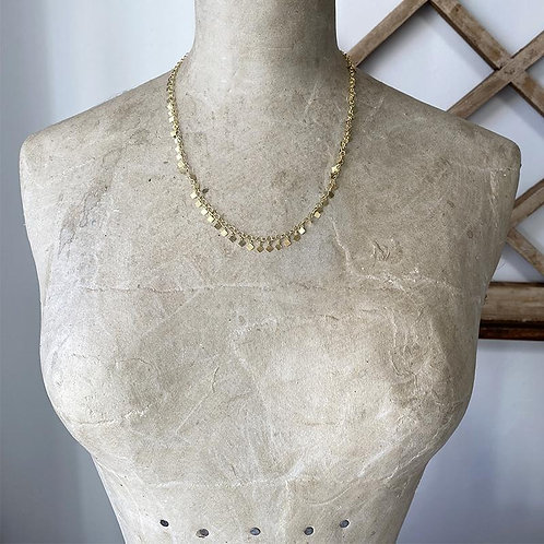 Golden Bohemian Fringe Necklace by Robindira Unsworth